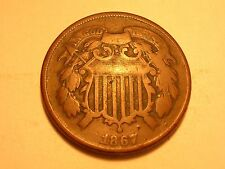 1867 Two Cent Piece (Fine & Attractive)