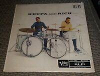 Gene Krupa & Buddy Rich 1957 Verve/Clef  MGV 8069 record album vinyl lp DRUMS