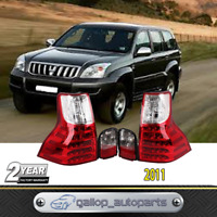 For Toyota Prado J150 2011-on LED Tail Light Taillight Red Clear Rear Fog Lamp