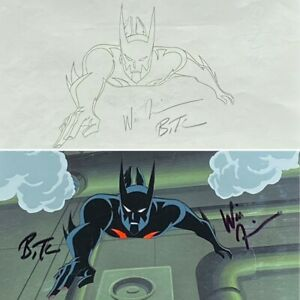 BRUCE TIMM rare BATMAN BEYOND cel & drawing SIGNED 2x + OBG SET Rebirth Part 2