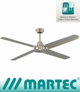 Martec Precision 56'' 316 Marine Grade Stainless Steel Ceiling Fan No Light -...