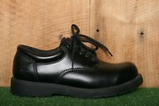 SKECHERS 'Harvard' Black Leather Slip Resistant Oxfords Work Shoes Men's Sz. 8.5