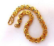 Hinged Link Bracelet 24 Karat Gold