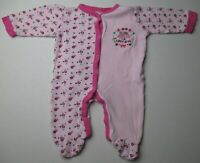 Infant Baby Girl 0-3 months BabyGear Thank Heaven for Little Girls Footed Outfit