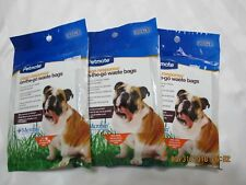 Poo Poo Bags 30 Count Clean Response On-The-Go Handle-Tie Waste Bags Lot of 3