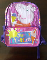 Backpack - Peppa Pig - Yummy Ice Cream - New with tags