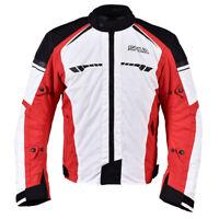 Shua Immortal Sports Touring Chaqueta textil corta de moto Hielo/Negro/Rojo