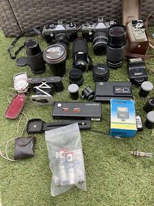 job lot camera photography Praktica MTL 3 And 50 Kodak Toko Ensinor Lense