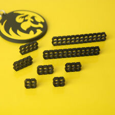 GORILLA GAMING Cable Combs Set of 8 - Hex 3mm Black Acrylic