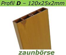 "Musterstück - Kunststoffbretter D (120x25x2mm) ""astfichte"" Profiware -Zaunbrett"
