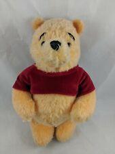 "Disney Winnie the Pooh Plush 11"" Jointed Holiday 2002 Stuffed Animal"