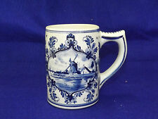 Delft Art Pottery for DeWit Stores Holland - Tankard Tall Mug