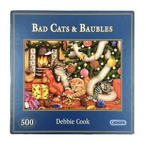 Bad Cats & Baubles Jigsaw Puzzle 500 Gibsons Christmas Kittens Xmas Tree Present