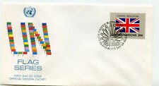 United Nations #399 Flag Series 1983, United Kingdom Official Geneva Cachet Fdc