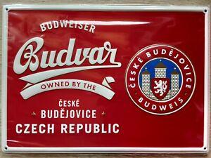 Budweiser Budvar Schild - geprägt - NEU -