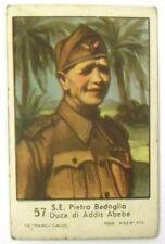 Figurina Anni 1930 S.E. Pietro Badoglio Marca Gallo Cartonata cm 7 x 4,5