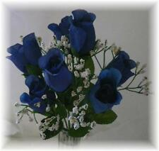 84 DARK BLUE Silk Roses Bud Wedding Bouquet Flower Centerpiece NO DEW