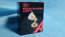 LED Brass Reading Light with Switch No scratches works perfectly NEW