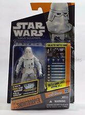 Snowtrooper SL23 w/Galactic Battle Game Star Wars Saga Legends New Unopened MOC!