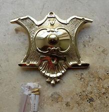 Geschenknet Antik Messing Klingel 1 Jugendstil Klingelschild Klingelplatte K43P