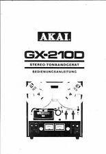 Akai  Bedienungsanleitung user manual owners manual  für GX-210 D in deutsch