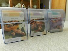 Easy to Bake Easy to make Cooking Recipe Cards - Set of Three Plastic Cases