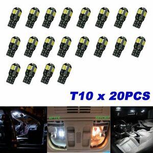 20pcs Canbus T10 194 168 W5W 5730 8 LED SMD 6000K Car Side Wedge Light Lamp Bulb