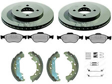 FORD FUSION FRONT BRAKE DISCS AND PADS REAR SHOES & FITTING KIT (258mm)