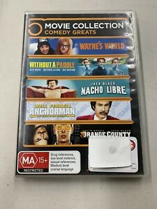 Wayne's World/Without A Paddle/Nacho Libre/Anchorman/Orange County 5 DVD Set