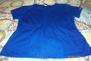 MISSES SCRUB TOP SIZE X LARGE BLUE CHEROKEE BRAND