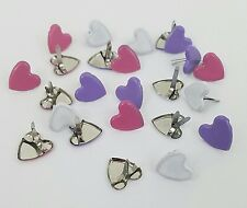Scrapbooking Brads 24 Hearts 3 Colors Love Valentines Day Cards Crafts Stamping