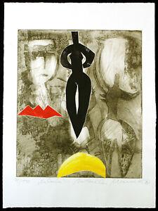 """""""Kalina"""", 1995. Farbradierung von Natascha MANN (*1946 D), handsigniert"""