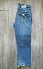 Mens Joe Browns Jeans 38x31 38 waist straight loose leg 20 inch hems blue denim