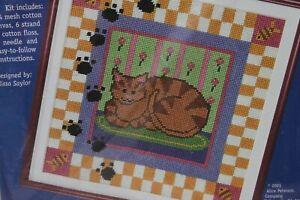 KITTY-CAT needlepoint kit Kidlettes Melissa Sayor