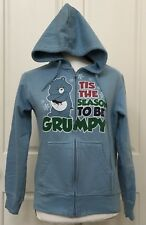 Care Bears Womens Size Large Light Blue Grumpy Bear Hoodie Winter Fun Fashion