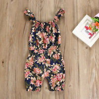 Newborn Infant Kids Baby Girl Floral Sleeveless Romper Jumpsuit Outfits Clothes