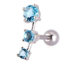 Cubic Zirconia Steel Barbell Ear Tragus Cartilage Helix Stud Earring VJ