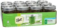 Mason Jars BALL WIDE MOUTH 12/box Pint(16oz) *NEW* Decorating, Projects, Canning