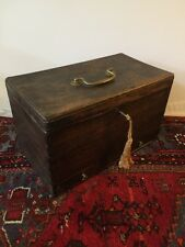 Primitive Antique Wood Sugar Chest Cupboard Box Knife Cutter Dovetailed