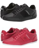 Lacoste Chaymon 419 1 U Men's Casual Leather Shoes Sneakers Black Red New