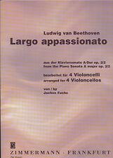 Beethoven-largo appassionato dalla pianoforte Sonata A-Dur per 4 violoncelli