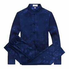 Tang Suit Men Traditional Chinese Clothing Suits Hanfu Cotton Long Sleeved Shirt