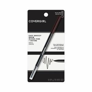 CoverGirl Easy Breezy Brow Micro-Fine + Define Pencil Crayon ~ 705 Rich Brown