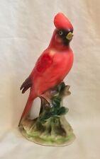 """Vintage Japan Porcelain Figurine Cardinal Red Bird 9"""" dabs"""