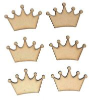 Crown MDF Wooden craft shape  embellishments decoupage, 5cm 6cm 7cm 8cm 9cm 10cm