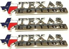 (THREE) TEXAS FLAG EDITION EMBLEMS CHEVY FORD DODGE TRUCK UNIVERSAL 3M STICK-ON
