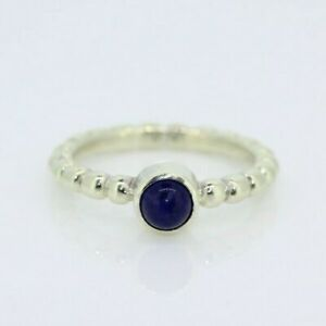 9ct White Gold 0.50ct Sapphire Solitaire Bubble Ring (Size N 1/2, US 7)