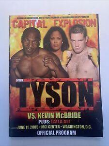 Mike Tyson-K.McBride 2005 Program with Folded Poster,Bout Sheet &PressKit Folder