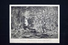 L'inverno: effetto di neve in una sera, quadro di Breton Incisione del 1875