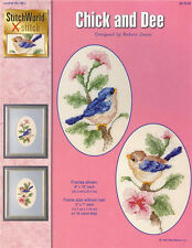 CHICK & DEE Chickadee Bird Cross Stitch Pattern NEW